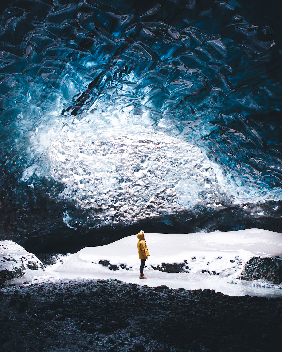 Iceland Ice Caves by Sarah Bethea