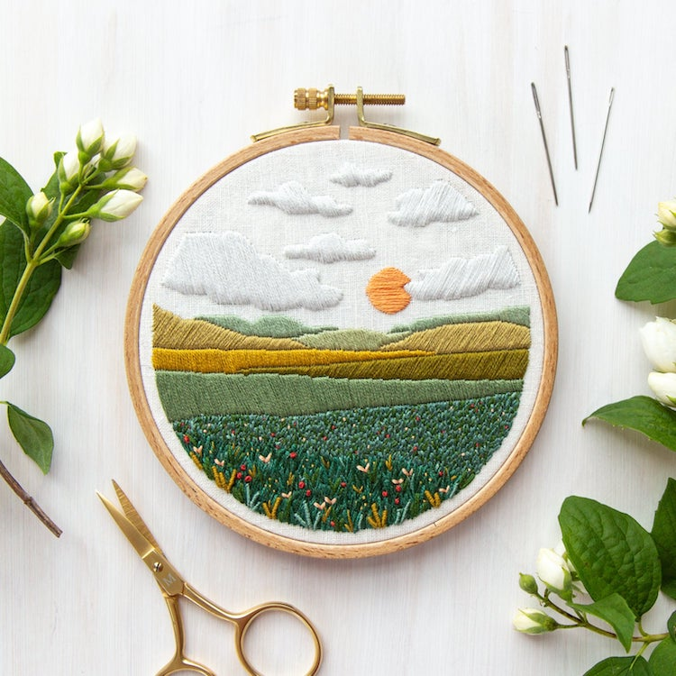 Meadow Embroidery Pattern