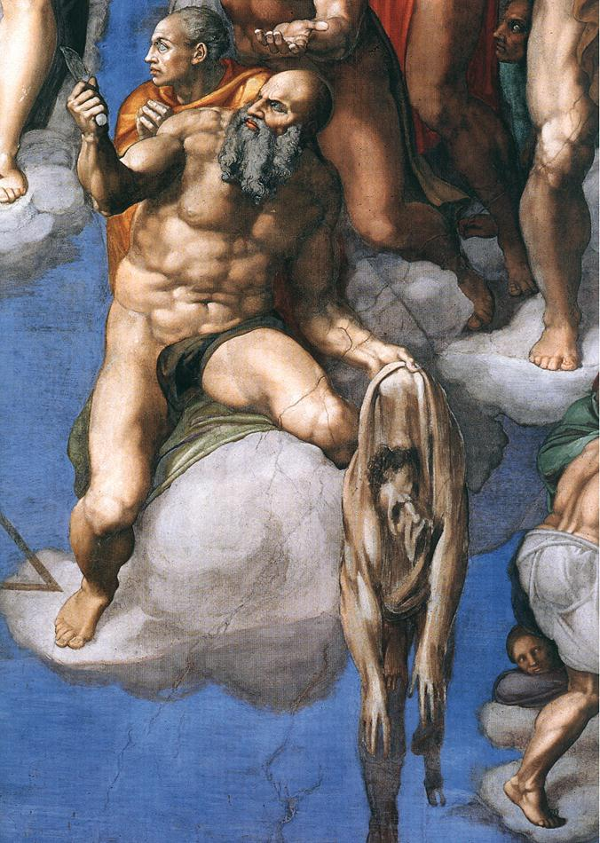 Detail of The Last Judgement by Michelangelo