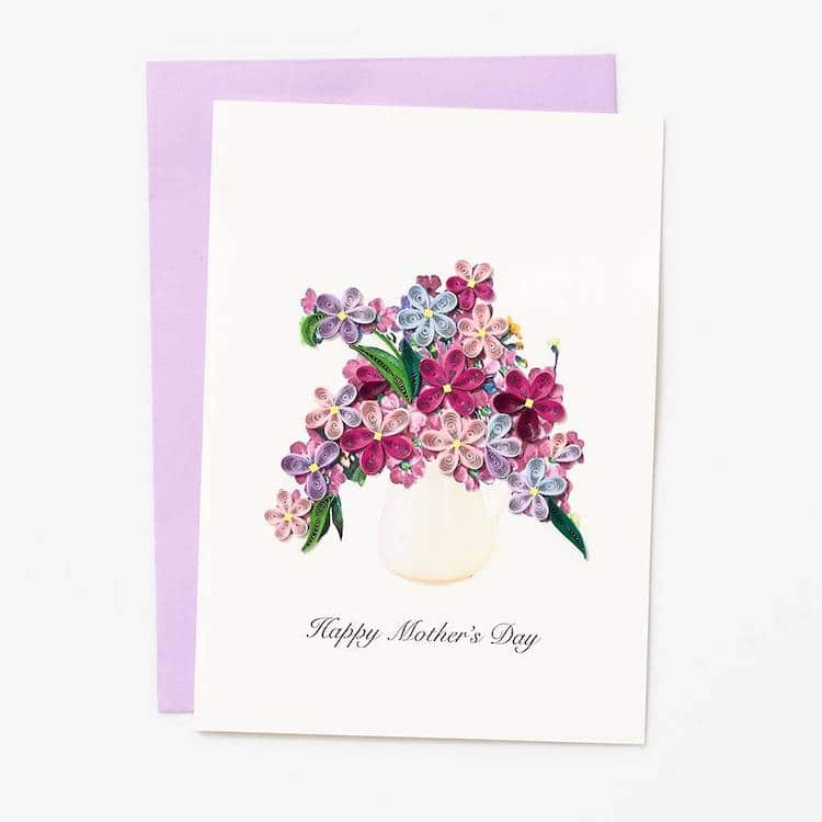 Paper Quilled Mother's Day Card