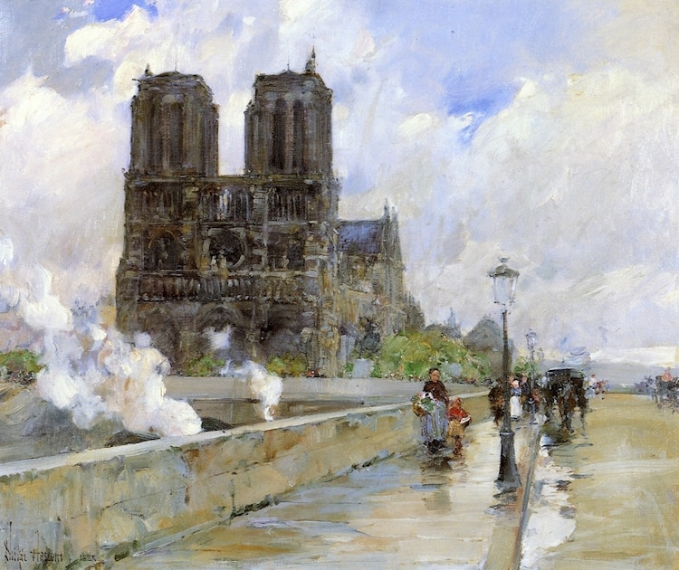 Childe Hassam Notre-Dame