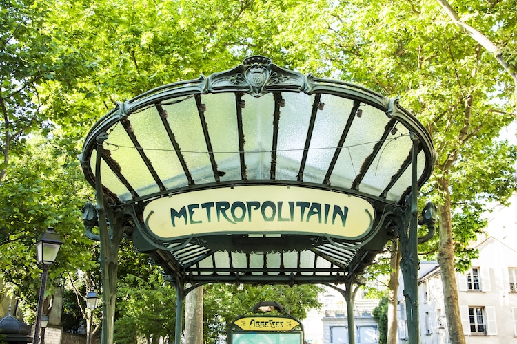 Paris Metro Entrances