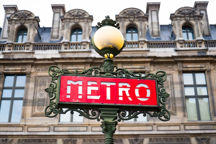 Paris Metro Signs