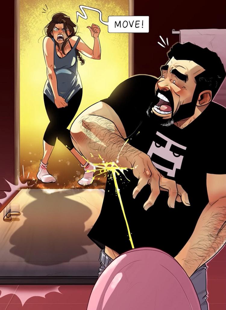 Cómics de embarazo por Yehuda Devir