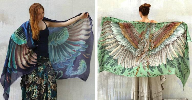 Shovava Shawl Bird Shawl Bird Wrap Feather Shawl