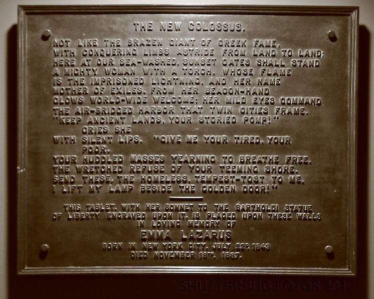 The New Colossus Statue of Liberty Poem Statue of Liberty Plaque
