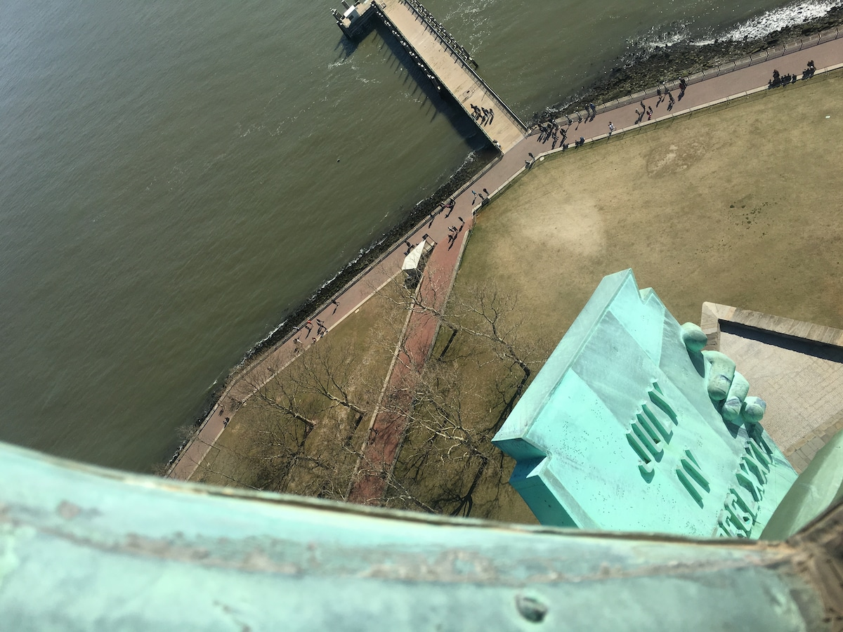 Looking Down from Crown on the Statue of Liberty