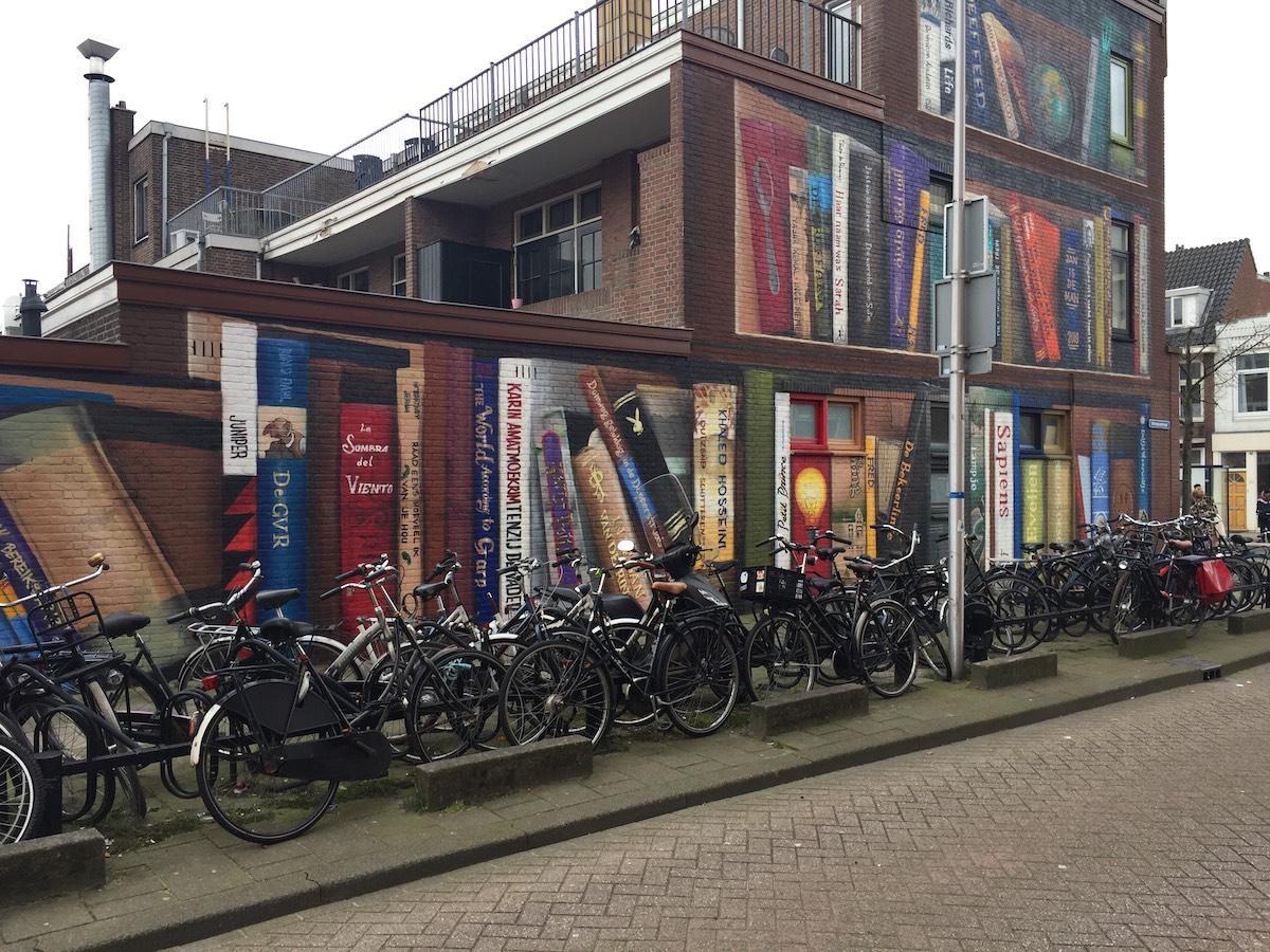 mural de ilusión óptica en Utrecht