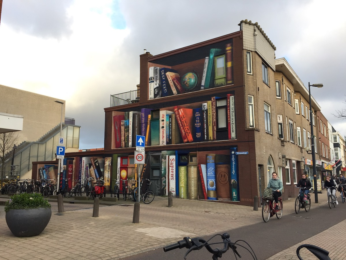 Street Art Illusion in Utrecht by Jan Is De Man
