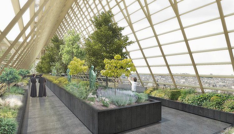 Studio NAB - Greenhouse Roof Concept at Notre-Dame