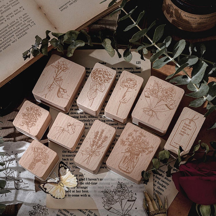 Wooden Flower Stamps