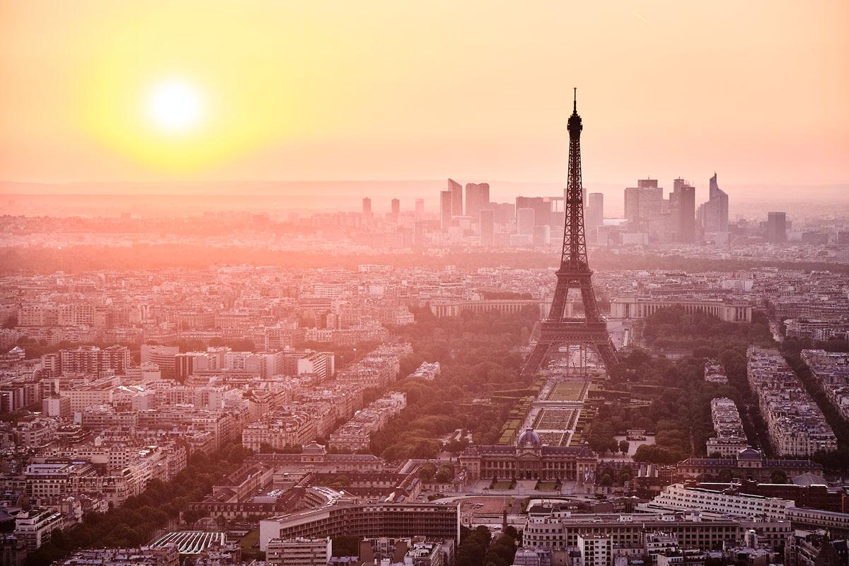 Paris Cityscape by Adrien Le Falher