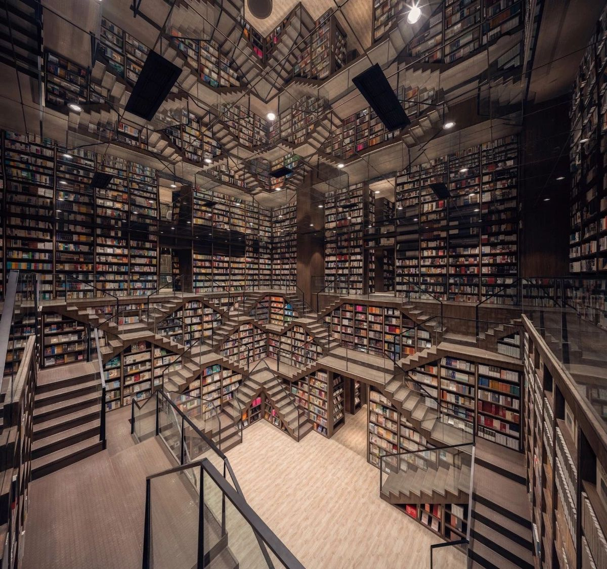 Inception Looking Bookstore