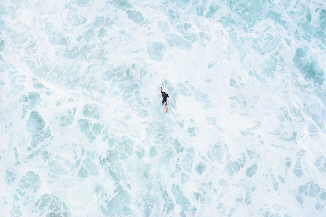 Aerial Photos Swell: Endless Blue by Drew Doggett