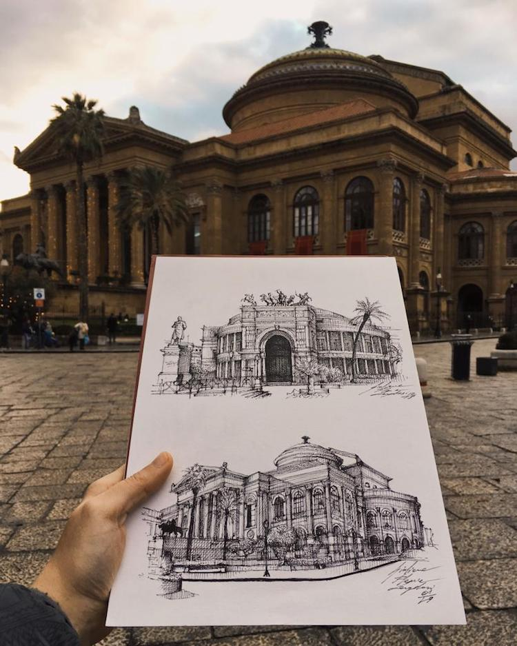 Sketches of Famous Buildings