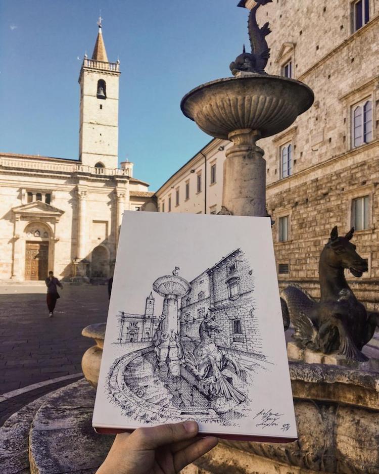 dibujos de arquitectura de edificios de italia