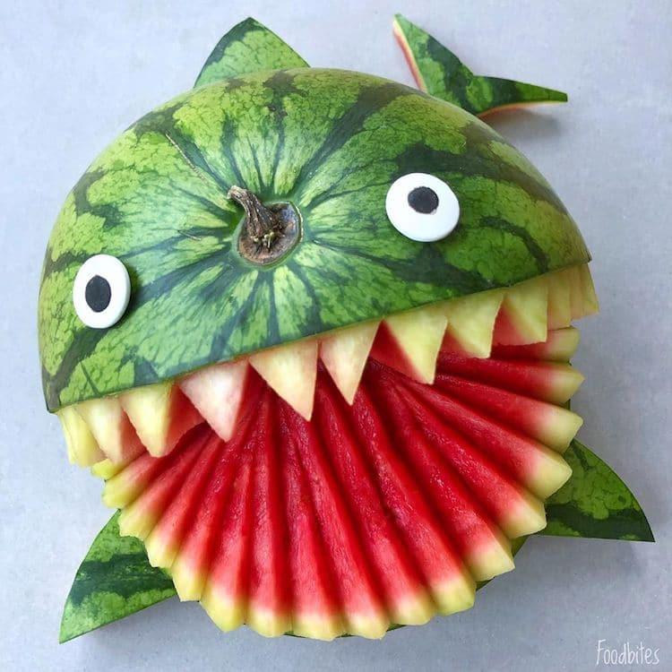 Animales con comida por Foodbites