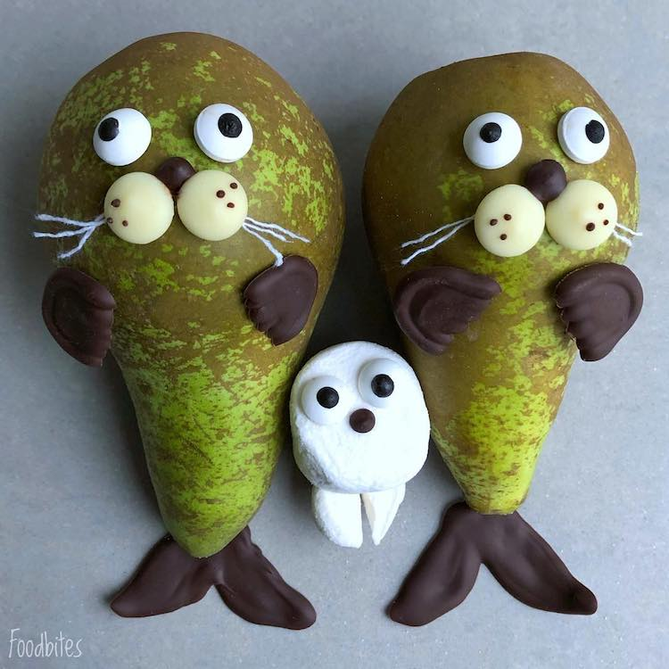 Food Art Characters by Foodbites