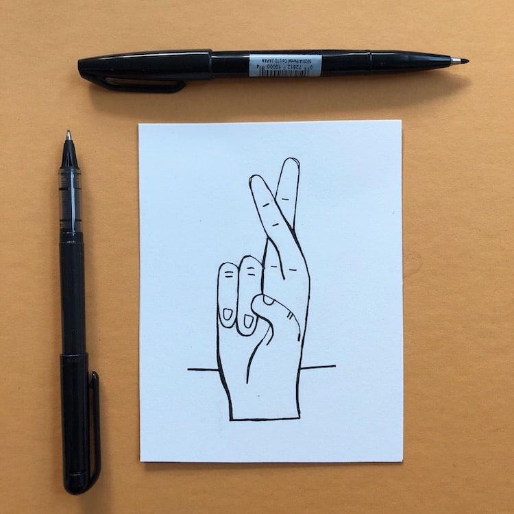 Línea de contorno en dibujo