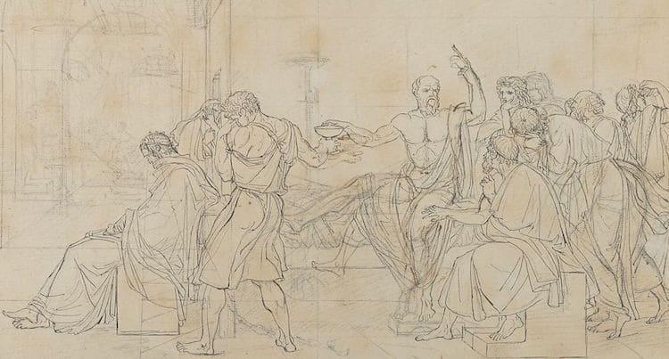 The Death of Socrates Sketch