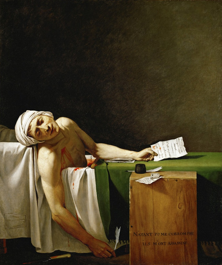 The Death Of Marat A Neoclassical Painting By Jacques Louis David