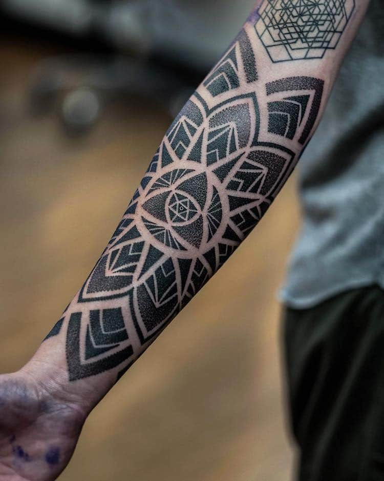 Fine Line Geometric Tattoos