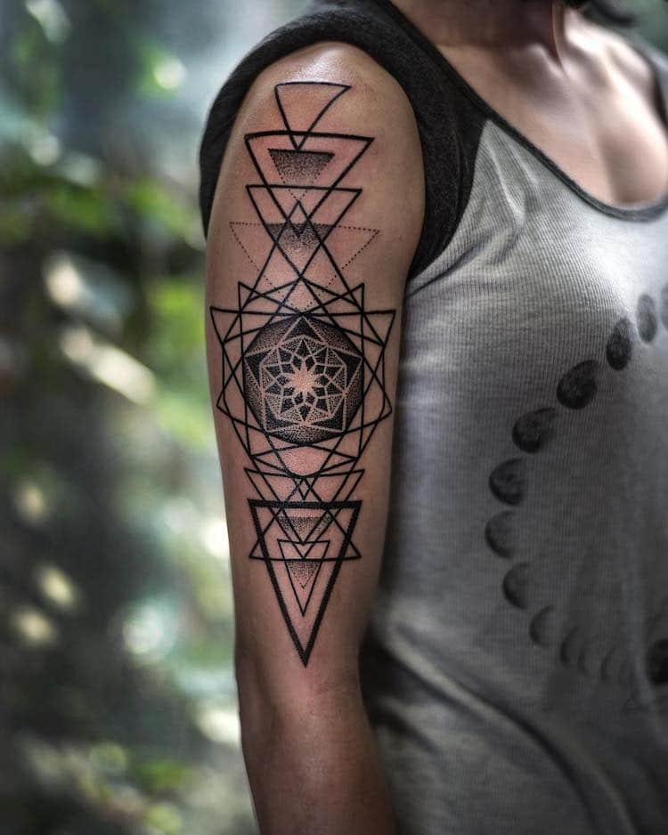 Best Sacred Geometry Tattoos by Dillon Forte