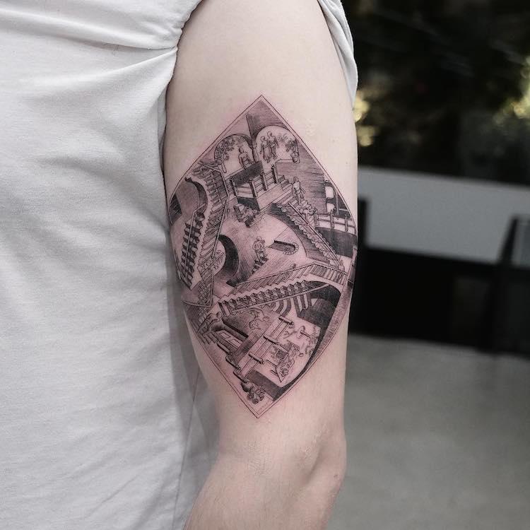 Art History Tattoos by Eva Krbdk