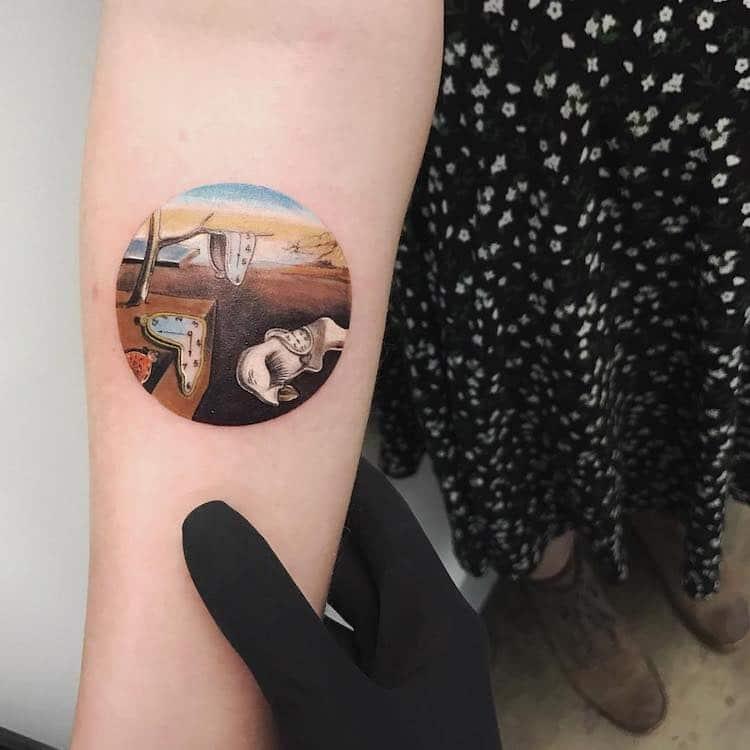 Tatuajes de historia del arte