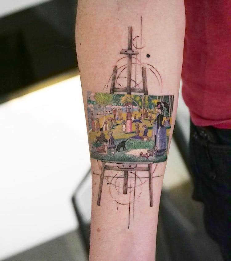 tatuajes de obras de arte