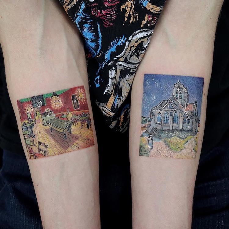 Diseños de tatuajes de obras de arte
