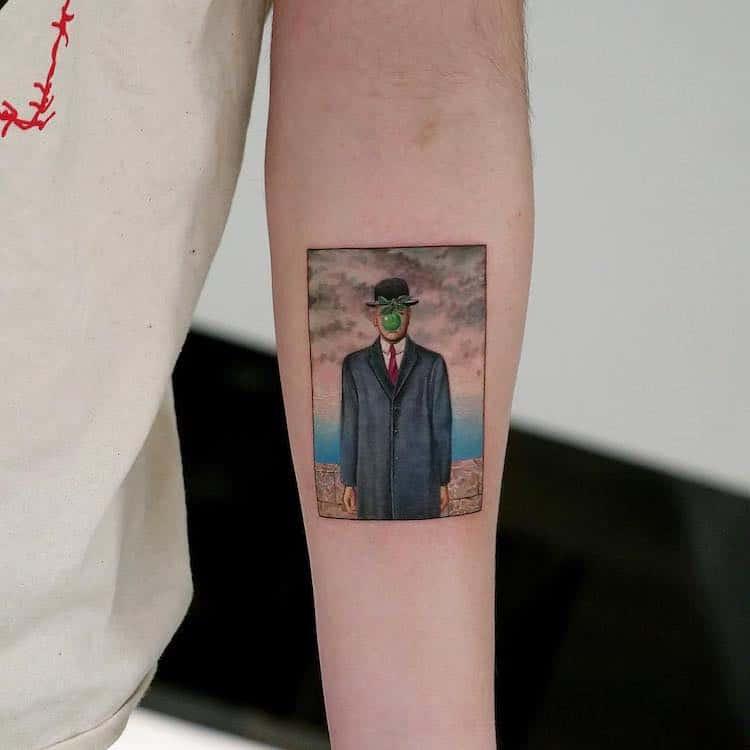 tatuajes de obras de arte por Eva Krbdk