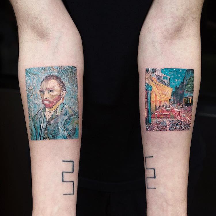 Tatuajes de Van Gogh por Eva Krbdk