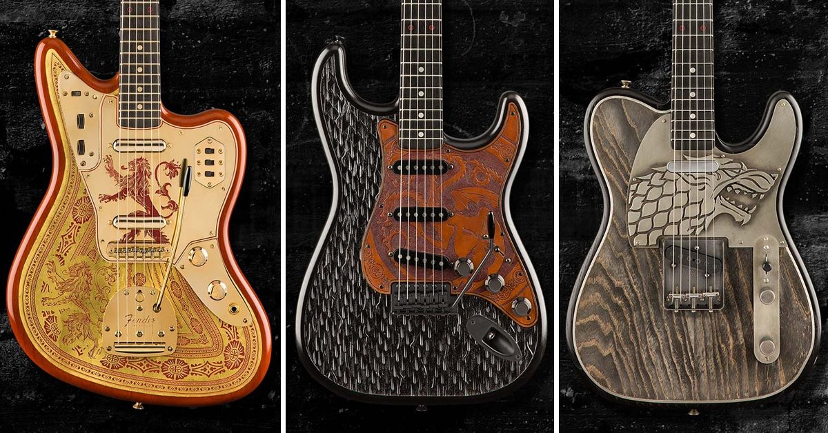 fender makes three game of thrones guitars to out shred your enemies. Black Bedroom Furniture Sets. Home Design Ideas