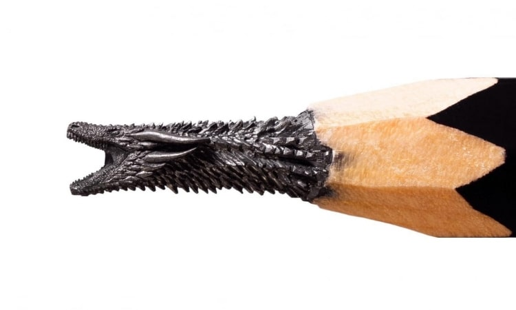 Game of Thrones Pencil Lead Sculptures by Salavat Fidai