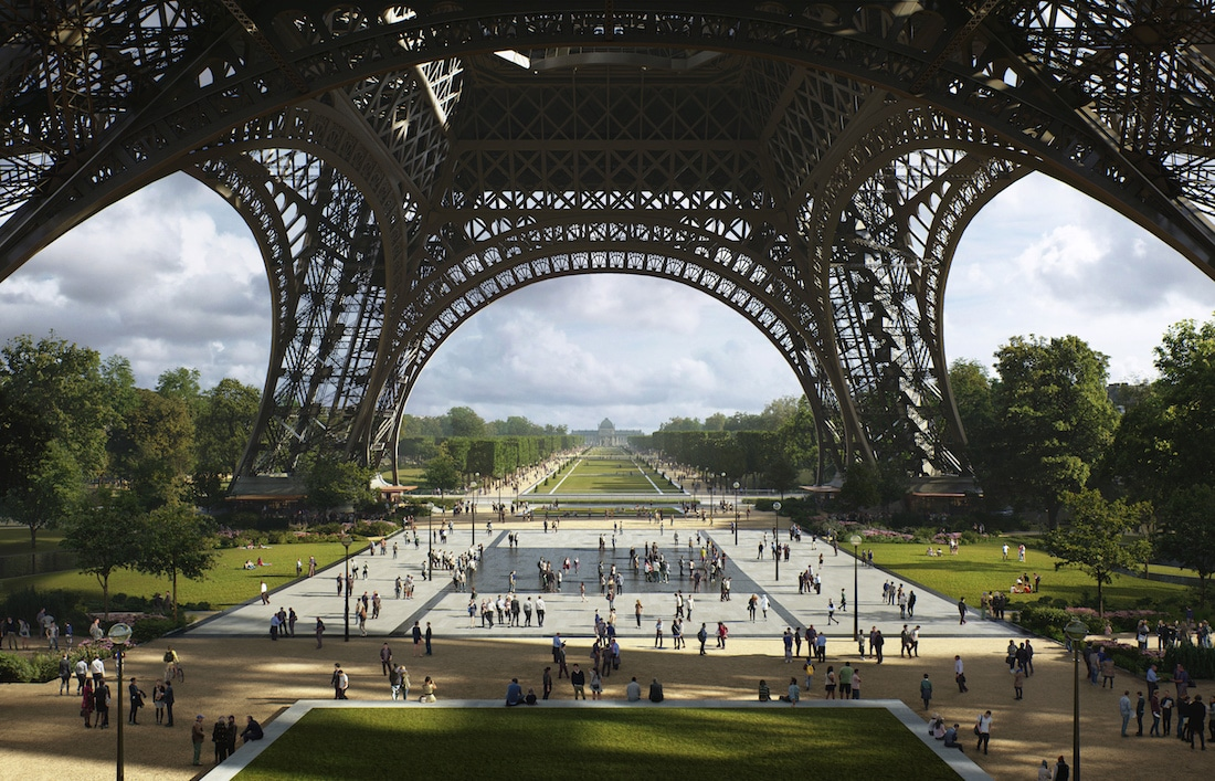 Eiffel Tower Redesign by Gustafson Porter + Bowman