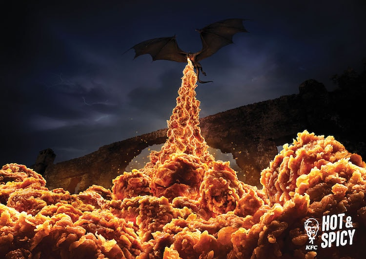 Hot and Spicy Chicken Ad Campaign KFC by Ogilvy