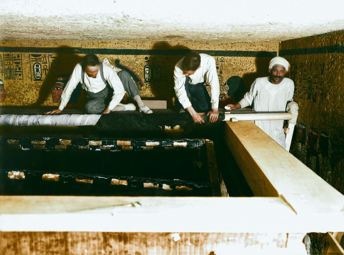 King Tut Discovery Colorized Photos