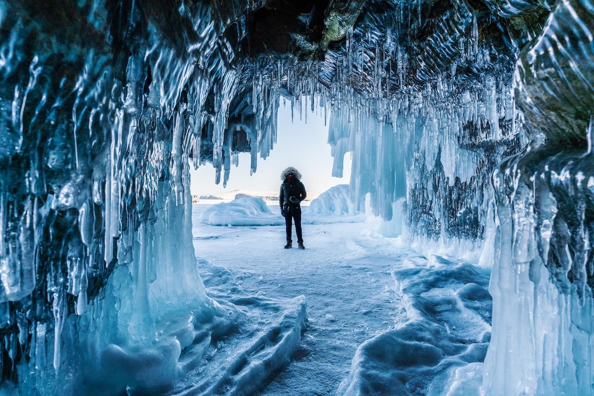 Ice Cave at Lake Baikal
