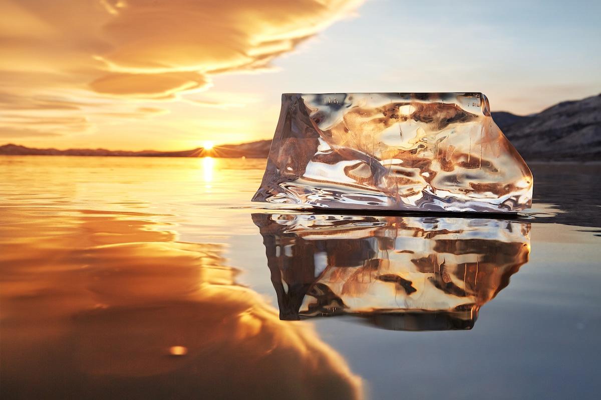 Sunset with Ice at Lake Baikal
