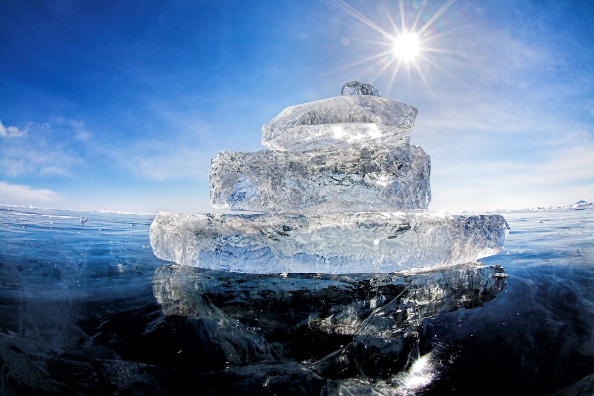 Ice at Lake Baikal