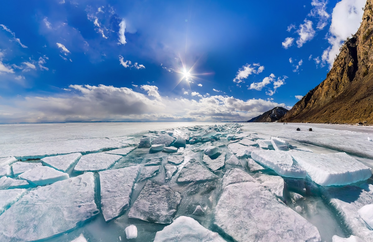 Ice Breaking Up at Lake Baikal