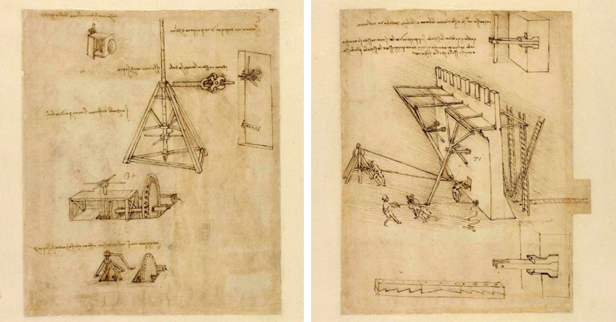 Largest Existing Collection of Da Vinci Drawings & Writings Now Available to Browse Online