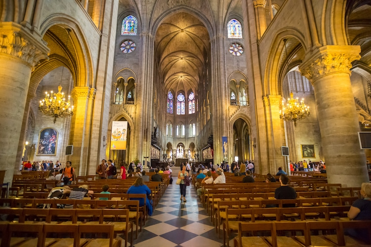 Interior of Notre-Dame Cathedral