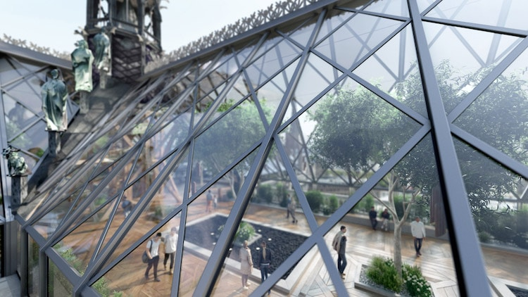 Glass Roof on Notre Dame by Miysis Studio