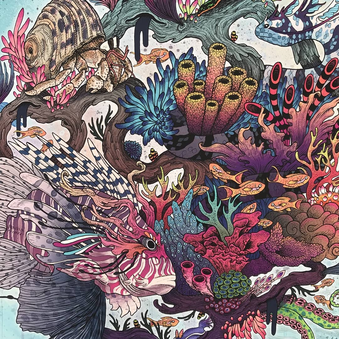 Ocean Art Equilibrium Illustration by Mat Miller