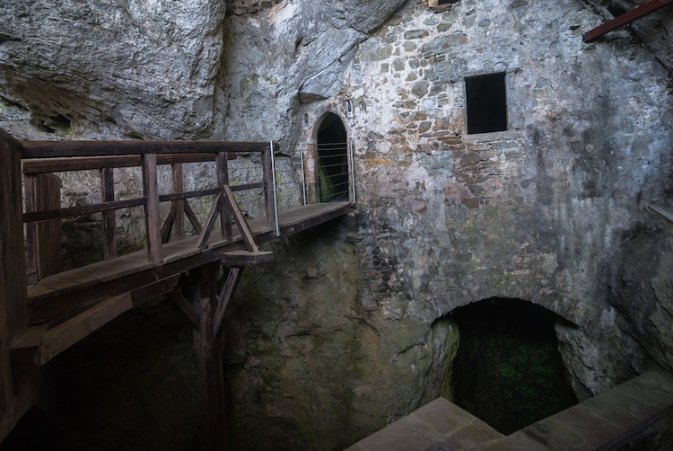 Secret Passageways Hidden in Predjama Castle