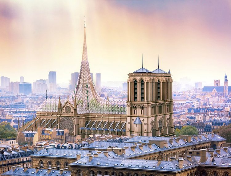 Notre Dame Cathedral Roof Concept by Vincent Callebaut
