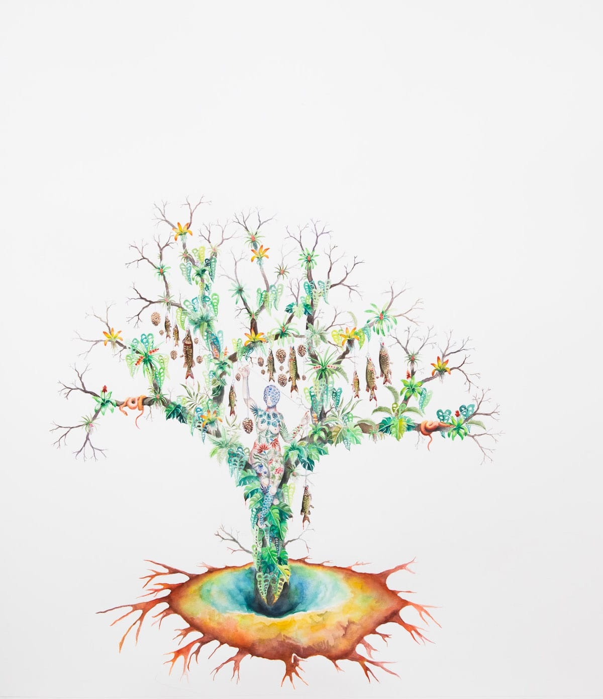 Watercolor Paintings of Utopian Future by Robin Crofut-Brittingham