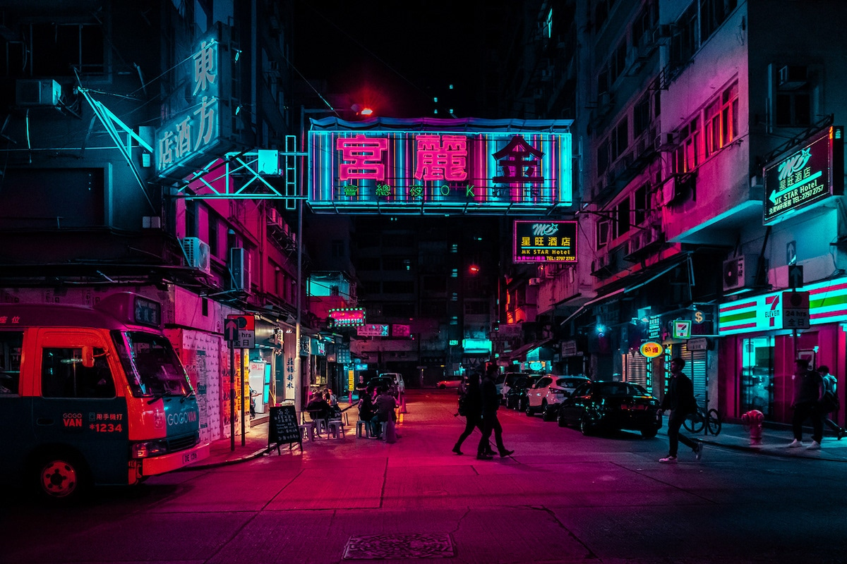 Hong Kong at Night by Xavier Portela